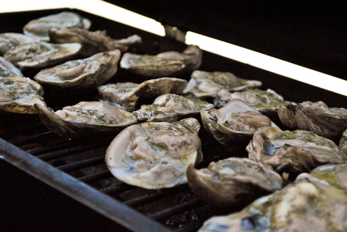 Mesquite Smoked Oysters
